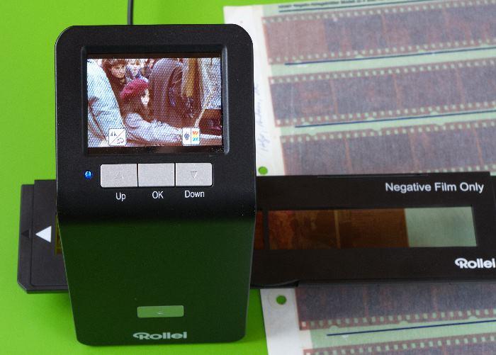 Rollei-DF-S-290-HD Filmscanner mit Diawechsler