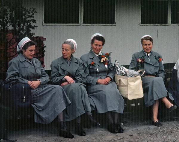 1958. Korea. Deutsches Rotes Kreuz in Pusan. Schwestern